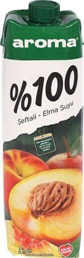 AROMA 1 LT %100 ŞEFTALİ-ELMA resmi