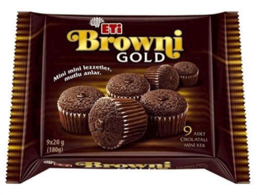 ETİ BROWNİ GOLD MİNİ 180 GR KAKAOLU resmi