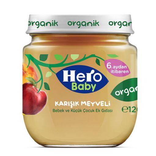 H.BABY 120 GR ORGANİK KARIŞIK MEYVE resmi