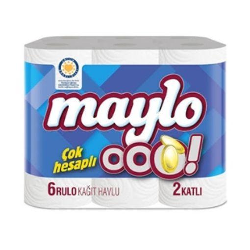 MAYLO OOO HAVLU 6'LI 2 KATLI resmi