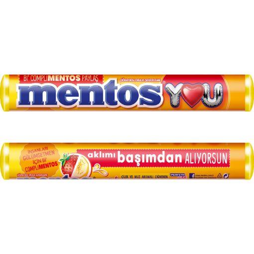 MENTOS STICK ÇİLEK&MUZ 37,5GR resmi