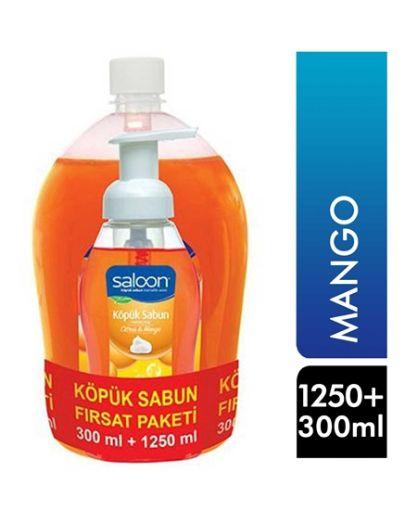 SALOON KÖPÜK SABUN 300 ML+1250 ML MANGOLU resmi